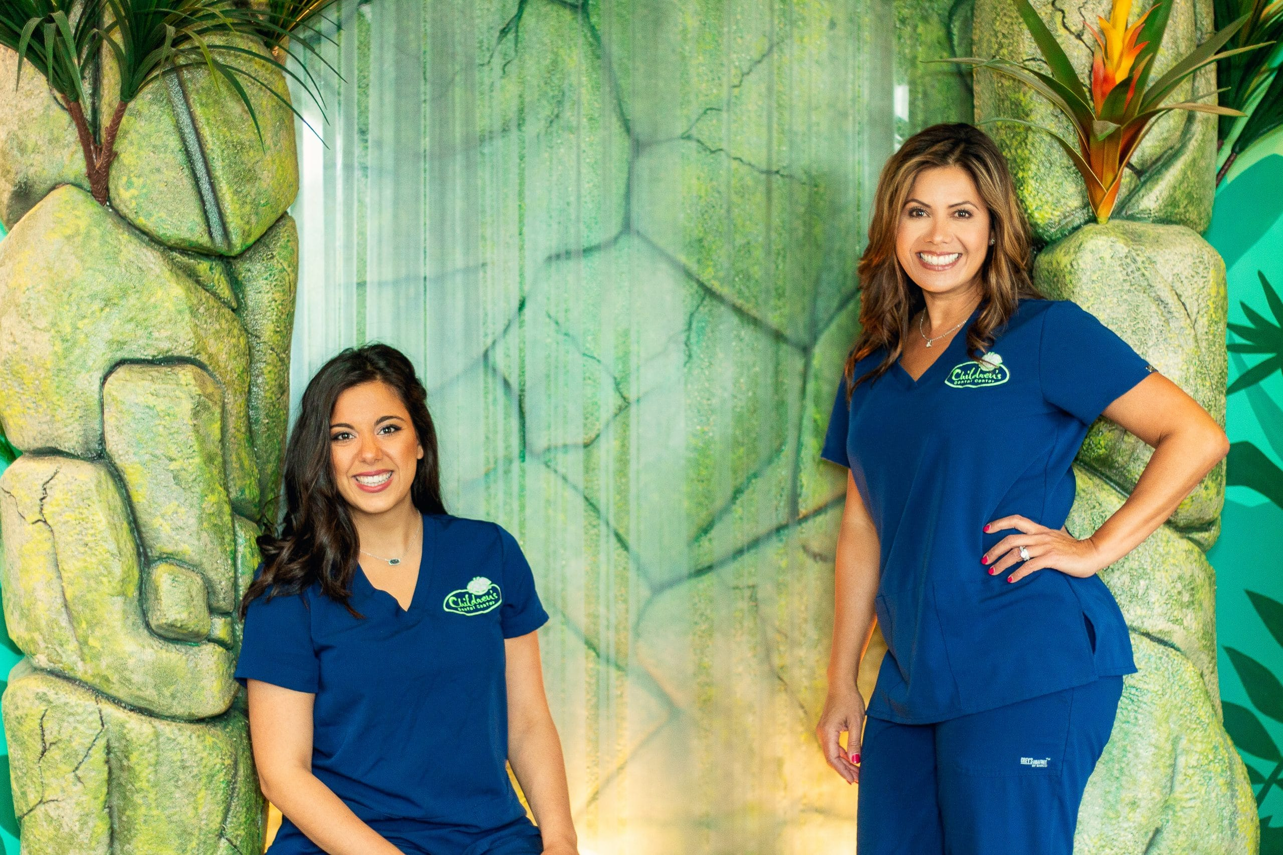 Dr Michelle and Dr Rebecca waterfall